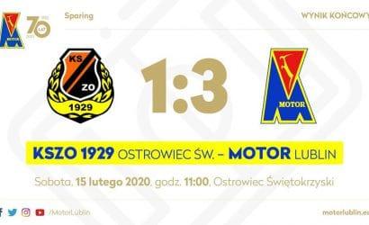 Sparing: Motor pokonał ligowego rywala w Ostrowcu Świętokrzyskim